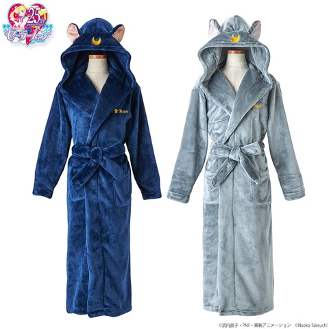 Sailor Moon Luna & Diana Fluffy Bathrobes